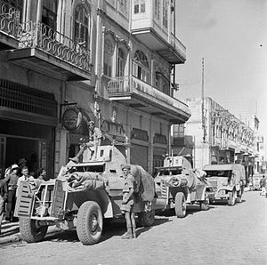 Battle of Deir ez-Zor - Marmon Herrington armoured cars in Aleppo on 22 July 1941