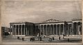 The British Museum; the entrance facade as built. Engraving Wellcome V0013532.jpg