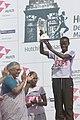 The Chief Minister of Delhi, Smt Sheila Dikshit presented the Trophy to Lineth Chepkirui, Kenya, 1st winner, in women's category in Delhi Half Marathon 2006 in New Delhi on October 15, 2006.jpg