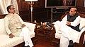 The Chief Minister of Madhya Pradesh, Shri Shivraj Singh Chouhan calling on the Union Home Minister, Shri Rajnath Singh, in New Delhi on January 15, 2015.jpg