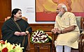 The Chief Minister of Tamil Nadu, Ms. J. Jayalalithaa calling on the Prime Minister, Shri Narendra Modi, in New Delhi on June 14, 2016 (3).jpg
