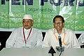 The Director, DFF Shri V B Pyarelal and Shri Kiran Shantaram at the Open Forum during the 37th International Film Festival (IFFI-2006) in Panaji, Goa on November 25, 2006.jpg