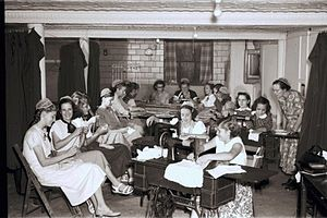 Sewing circle - The Junior Sewing Circle of the North Lima Mennonite Congregation, North Lima, Ohio, 1952