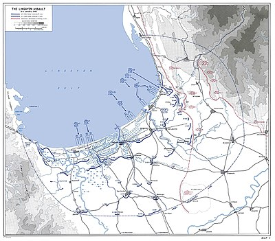 The Lingayen Assault 9-11 January 1945 - Map