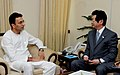 The Minister of Works of Japan, Mr. Ken Okuda meeting the Minister of State for Road Transport and Highways, Shri Jitin Prasada, in New Delhi on May 01, 2012.jpg
