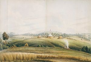 Bathurst, New South Wales - John Lewin, The Plains, Bathurst, watercolour drawing, ca. 1815, State Library of New South Wales