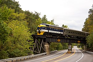 The Potomac Eagle Crosses WV Route 28 (6170081665).jpg