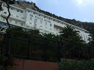The Rock Hotel - View of the building from the hotel gardens