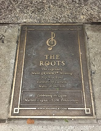 The Roots - The Roots' Philadelphia Music Alliance Walk of Fame marker located on South Broad Street