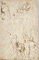 The Virgin Adored by Saints (recto); Study of the Torso Belvedere (verso) MET DT5364.jpg