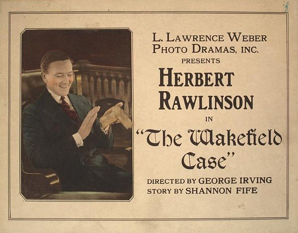 The Wakefield Case (1921) : carte postale promotionnelle