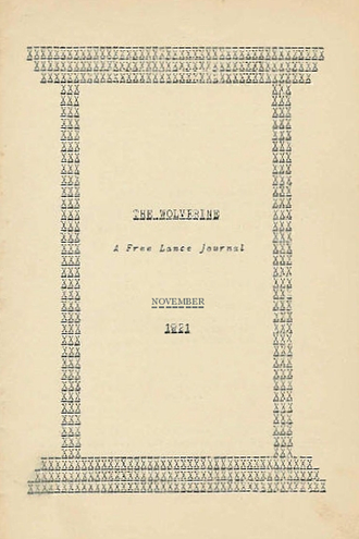 The Nameless City - The Wolverine, November 1921