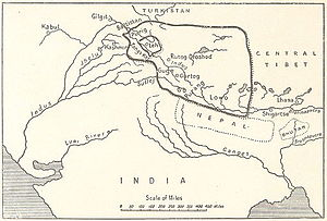 Sino-Sikh War - The empire of King Tsewang Rnam Rgyal 1 and that of King Jamyang Rnam Rgyal, about 1560 and 1600 A.D.