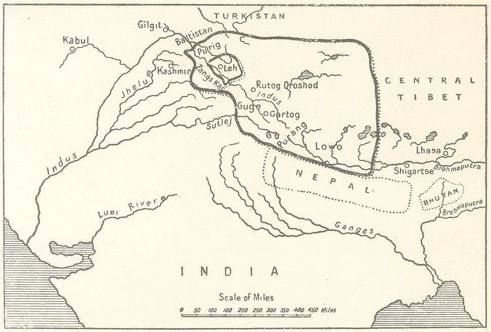 The empire of King Tsewang Rnam Rgyal 1., and that of King Jamyang Rnam Rgyal., about 1560 and 1600 A.D