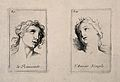 The face of a woman in ecstasy (left); a female face express Wellcome V0009383.jpg