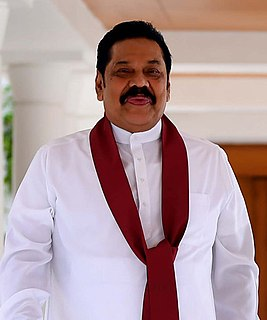 Mahinda Rajapaksa Sri Lankan politician, current Prime Minister of Sri Lanka