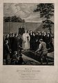 The funeral of Mrs Susannah Wesley at Bunhill Fields, the Me Wellcome V0006691.jpg
