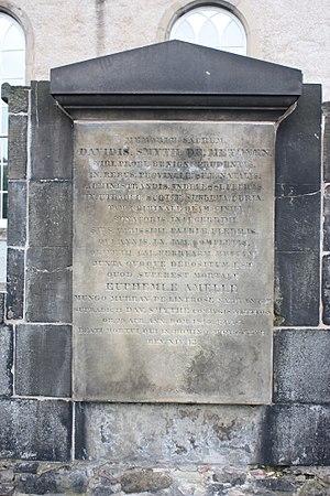 David Smythe, Lord Methven - The grave of David Smyth, Lord Methven, Canongate Kirkyard