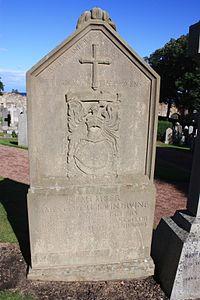 The grave of James Colquhoun Irvine, East Cemetery, St Andrews.jpg