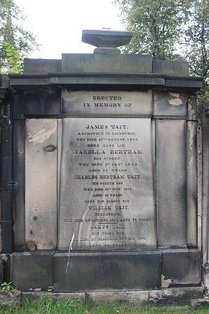 William Tait (publisher) - The grave of William Tait, St Cuthberts Churchyard, Edinburgh