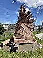 The sculpture Toroa (1989) by Peter Nicholls as it appears in October 2020.jpg