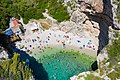 The turquoise waters of the Adriatic Sea at Stiniva Bay on Vis island in Croatia (48608659171).jpg