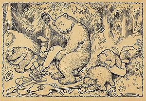 "Opposition to hunting - ""En uheldig bjørnejakt"" (An Unfortunate Bear Hunt) by Theodor Kittelsen"