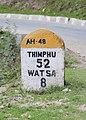 Thimphu and Watsa milestone.jpg