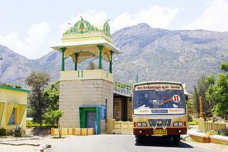 Udumalaipettai Town in Tamil Nadu, India