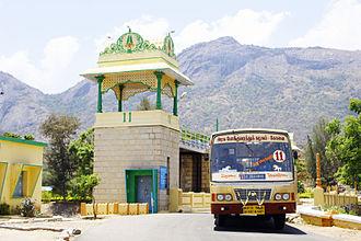 Udumalaipettai - Udumalai bus at Thirumoorthi reservoir