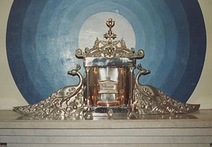 Kodungallur - Relic of St. Thomas, kept in the sanatorium of a Syrian Church in Kodungallur
