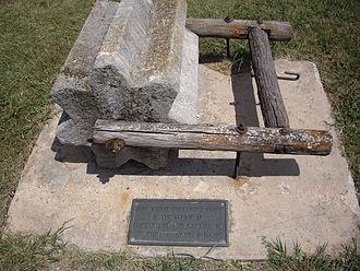 Goessel, Kansas - Image: Threshing stone near Goessel, Kansas