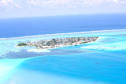 Aerial view of Thulhaadhoo
