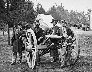 Battery A, 2nd U.S. Artillery - Fair Oaks, Va., vicinity. Lt. Robert Clarke, Capt. John C. Tidball, Lt. William N. Dennison, and Capt. Alexander C.M. Pennington.