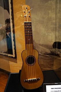 Timple traditional 5-string plucked string instrument of the Canary Islands