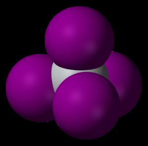 Titanium tetraiodide - Image: Titanium tetraiodide 3D vd W