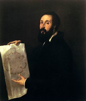 Giulio Romano - Titian's Portrait of Giulio Romano (ca. 1536), oil on canvas, 101 x 86 cm
