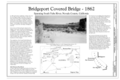 Title Page - Bridgeport Covered Bridge, Spanning South Fork of Yuba River at bypassed section of Pleasant Valley Road (originally Virginia Turnpike) in South Yuba HAER CAL,29-BRIGPO,1- (sheet 1 of 5).png
