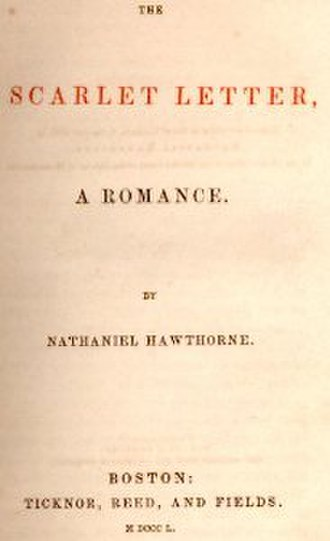 The Scarlet Letter - Title page, first edition, 1850