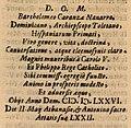 Titulus sepulcri Bartholomaei Carranza Archiepiscopi Toletani.jpg