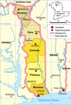 karta togo Togos regioner – Wikipedia karta togo