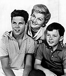 Tony Dow Barbara Billingsley Jerry Mathers Leave It to Beaver 1959.JPG