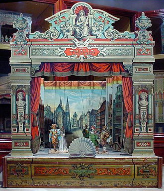 Pickford's House Museum - A toy theatre which is on display (2011) in the museum.