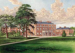 Trafalgar Park, Wiltshire - Trafalgar House circa 1880.