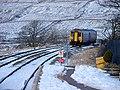 Train approaching Ribblehead Station - geograph.org.uk - 1151269.jpg