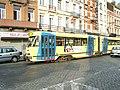 Trams in Ropsy Chaudron street, Anderlecht (495206034).jpg