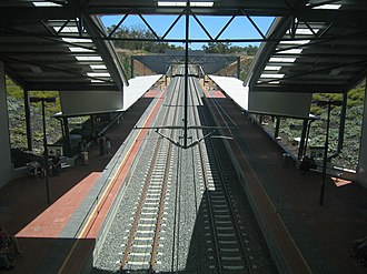 Wellard railway station - Southbound view in December 2007