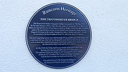 Transporter bridge plaque