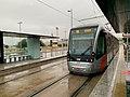 Tranvía Campus Río Ebro en día lluvioso.jpg