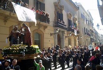 Trapani -  More details Easter procession, The Misteri